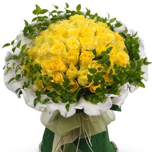노랑장미꽃다발 42C