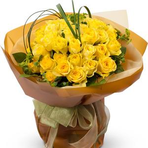 노랑장미꽃다발 41C