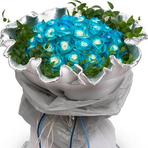 파랑장미꽃다발(예약만) 54C