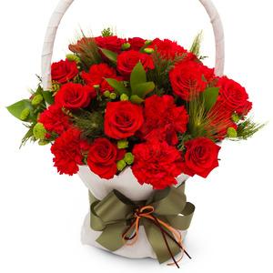 카네이션장미꽃바구니